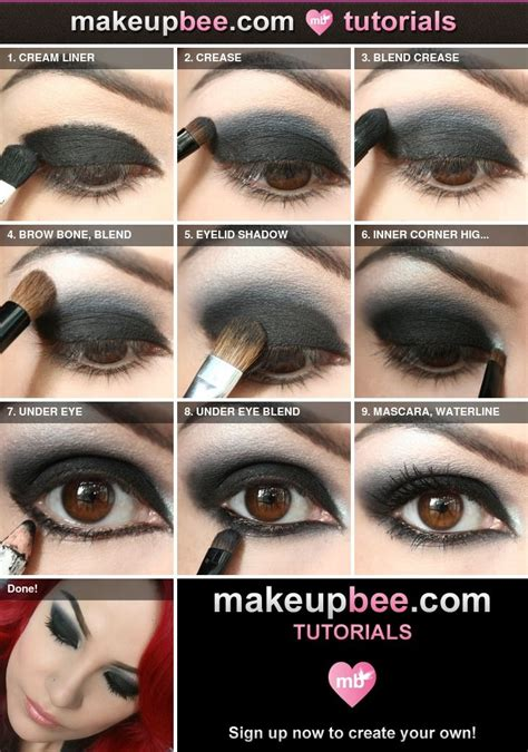 everything eyes professional techniques 1452119619 step by step tutorial for nightfall black eyeshadow made easy goth makeup