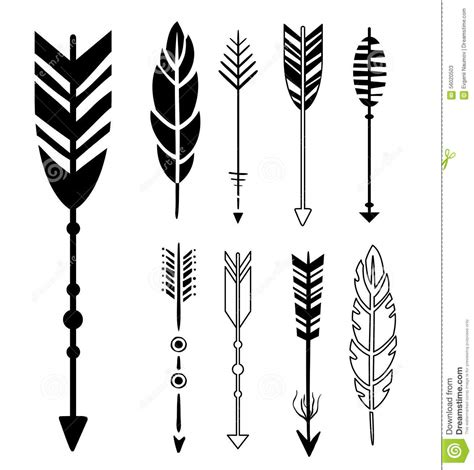 set of cute hipster arrows stock vector image 56020503