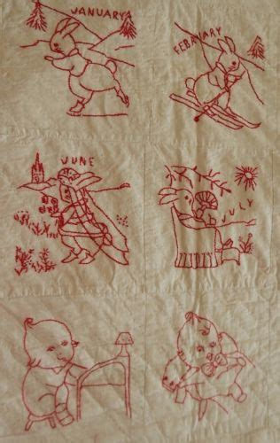 kewpie doll quilt 231 best redwork images on embroidery