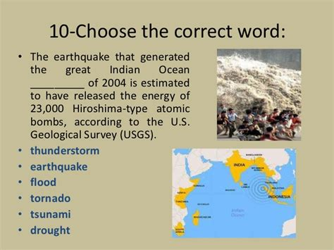 earthquake vocabulary natural disasters vocabulary