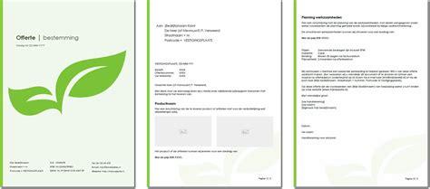 layout van een blog voorbeeld van een design offerte