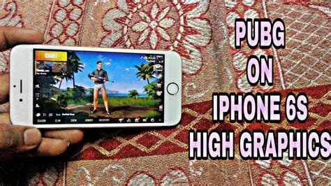 pubg on iphone 6s gameplay high max graphics