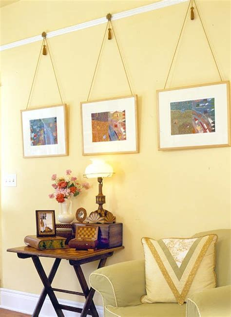 hanging frames without nails save a wall hang a poster 20 ideas for alternative art