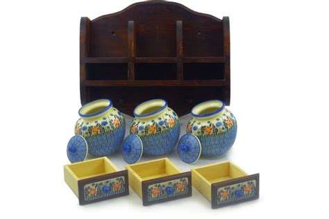 polish home decor polish pottery 17 inch kitchen shelf boleslawiec