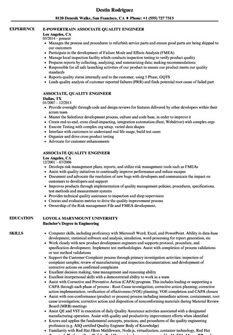 quality engineer resume samples visualcv resume samples database