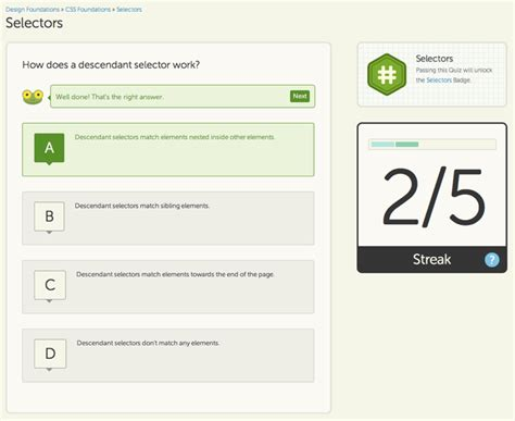 quiz css layout web design and development community treehouse wants to