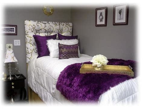 lavender and gold bedroom purple and gold dorm room