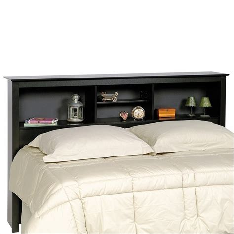 Black Storage Headboard by Bookcase Platform Storage Bed With Headboard In Black