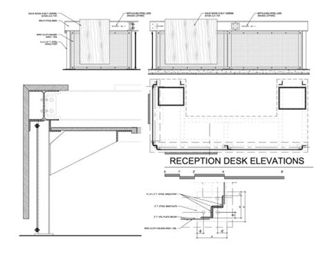 Reception Desk Details Plans To Build Reception Desk Construction Details Pdf Freeplans