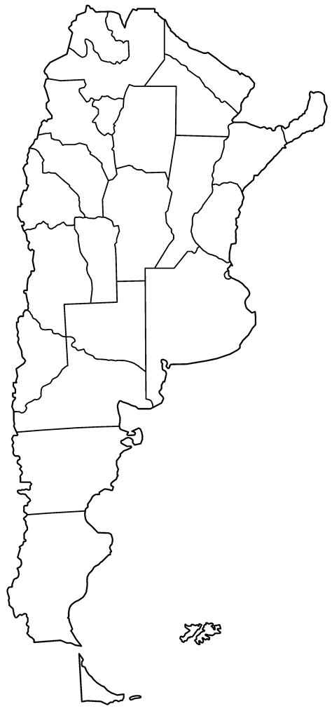 argentina map coloring page file argentina provinces blank png