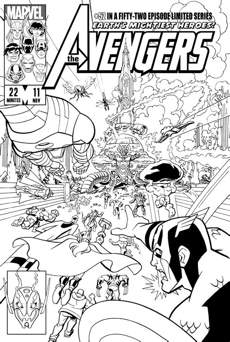 free coloring pages of black panther avengers