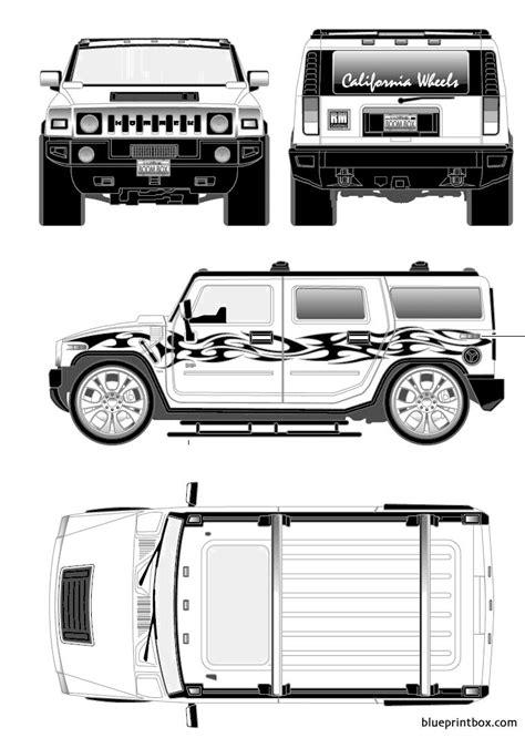 hummer h2 custom 2008 - BlueprintBox.com - Free Plans and