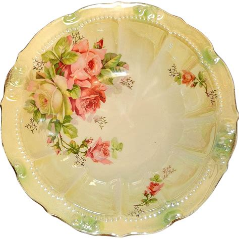 painted porcelain ls vintage painted porcelain serving bowl germany from