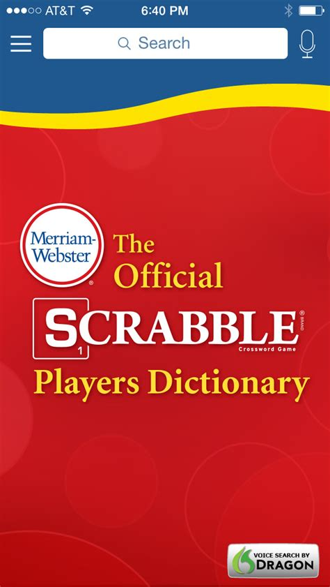 official scrabble dictionary scrabble dictionary free ver 2 0 5 for ios