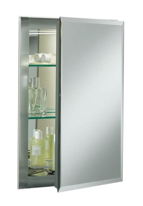 Frameless Mirrored Medicine Cabinet by Kohler K Cb Clr1620fs Silver Aluminum 16 Quot X 20 Quot Single