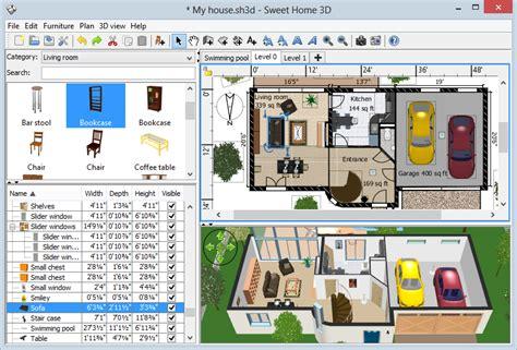 home design 3d pc free download تحميل برنامج download sweet home 3d لتصميم المنزل والديكور