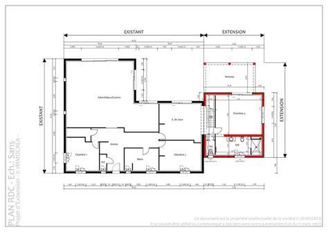 plan extension maison 3148 plan extension maison plan maison avec terrasse couverte