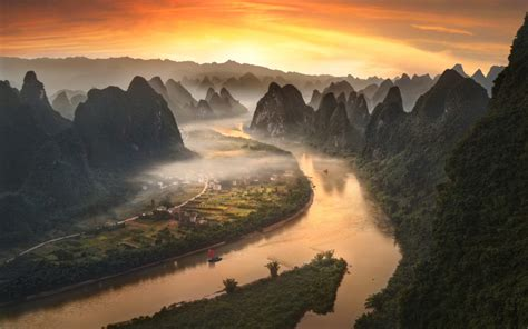 li river  china  xingping village   field