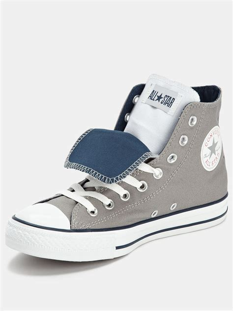 Conversehigh Grey Ct2 converse converse ctas tongue mens hi in gray for grey navy white lyst