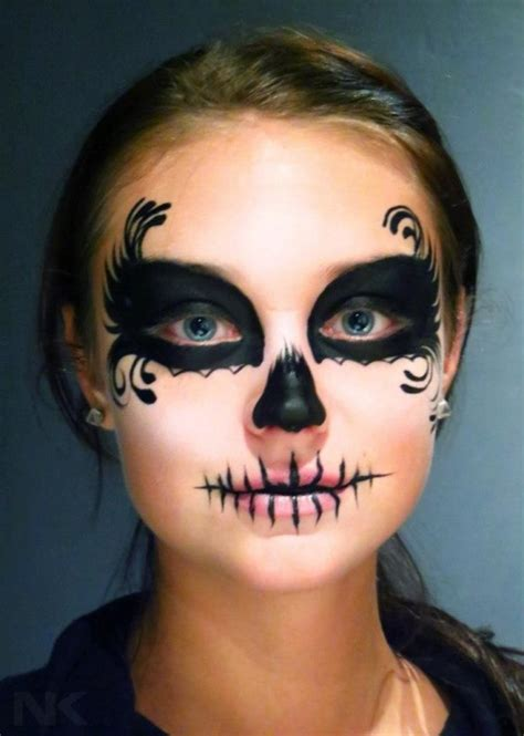 Makeup Sk Ll sugar skull makeup on