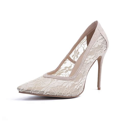 high heels with lace s closed toe lace stiletto heel high heels hebeos