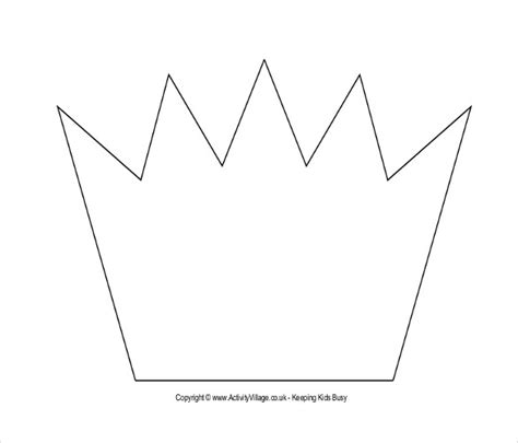 printable image of a crown crown template printable www imgkid com the image kid