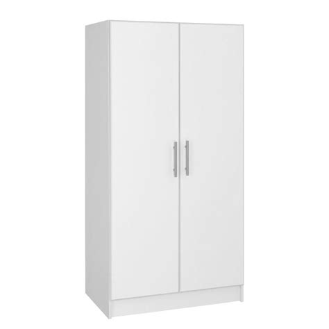 White Wardrobe Storage Cabinet Closetmaid 72 In H X 24 In W X 15 25 In D Laminate