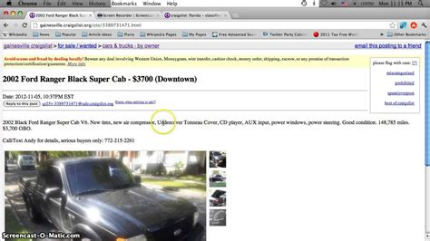Craigslist Port Fl Cars by Craigslist Gainesville Florida Used Cars And Trucks Low Prices For Sale By Owner Classifieds