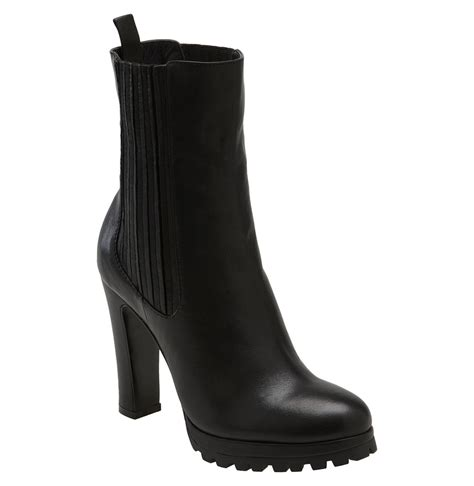dolce vita jansen ankle boot in black black leather lyst