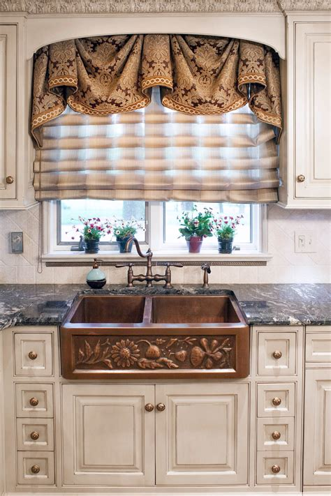 kitchen window treatments custom window treatments