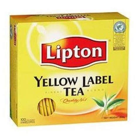 lipton yellow label tea bag black 100 sachet pack tea coffee gomart pk