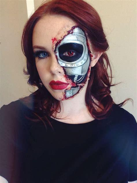 terminator makeup terminator costume facepaint