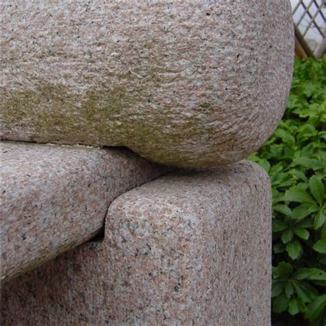 japanese stone bench japanese roll top stone bench with arm rests