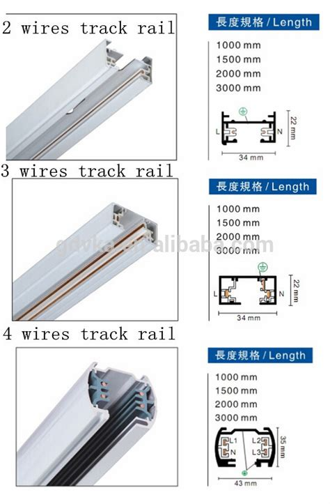 track series 2 3 4 wire wholesale aluminum 4 wires 3 phase track rail