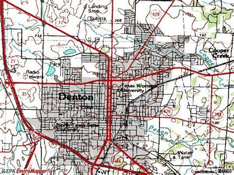 zip code map denton tx zip code denton texas map