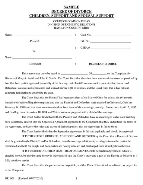 Oklahoma Divorce Records Free 28 How To Write Your Own Divorce Papers Printable