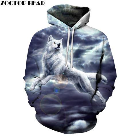 Hoodie Sweater Wolfs Premium wolf printed 3d sweathsirts animal hoodies boy