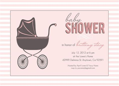 Baby Carriage Card Template by Baby Shower Invitation Diy Printable Photoshop Card