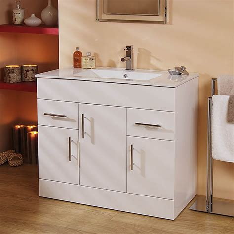 Aspen Bathroom Furniture Modena Aspen 90cm Vanity Unit