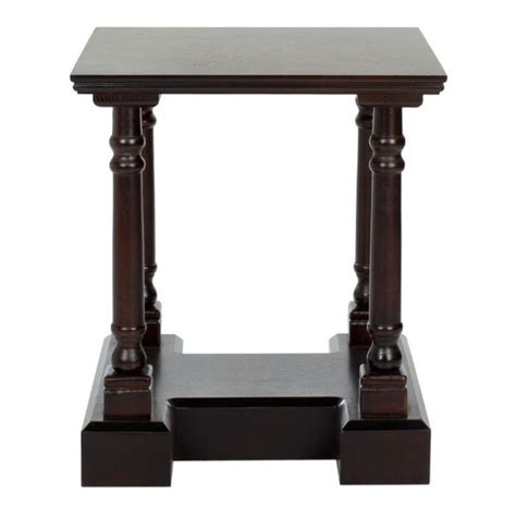 cherry wood accent tables safavieh terry wood end table in dark cherry amh5707d
