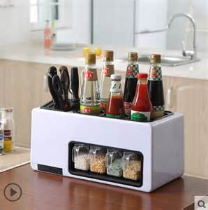 Spice Bottle Storage Multifunctional Combination Knives Holder Seasoning Box