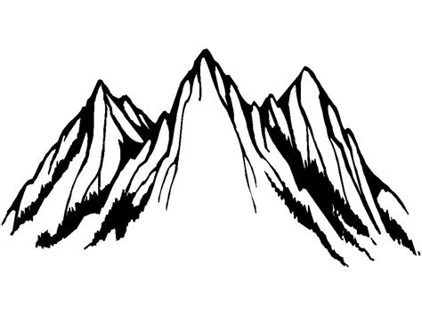 White Outlined by Clipart Mountains Black And White Www Pixshark Images Galleries With A Bite