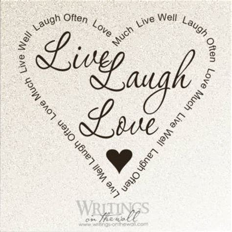 live laugh live laugh love heart writings on the wall
