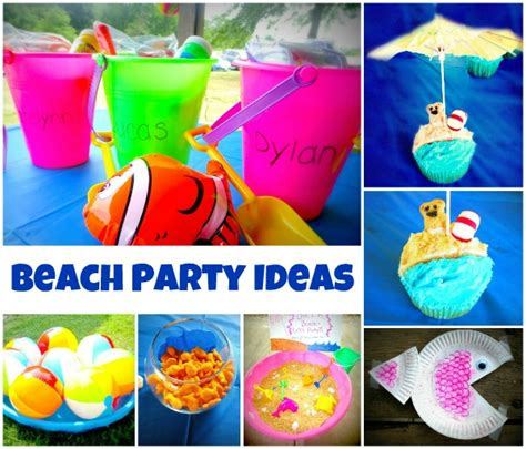 birthday themes summer beach party ideas growing a jeweled rose parties