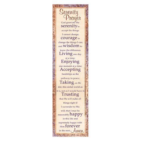printable prayer bookmarks quot serenity prayer quot bookmarks