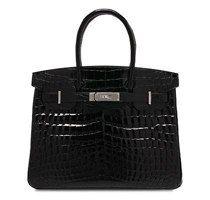 Hermes Birkin Glossy Croco Large 9044 hermes black birkin 30cm in shiny croc bags of luxury