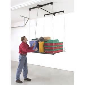 Garage Storage Ceiling Lift Diy Garage Storage Heavy Lift Retractable 4x4