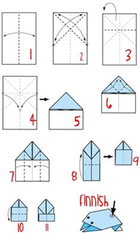 easy jumping frog origami plan for simple folded paper airplane library program