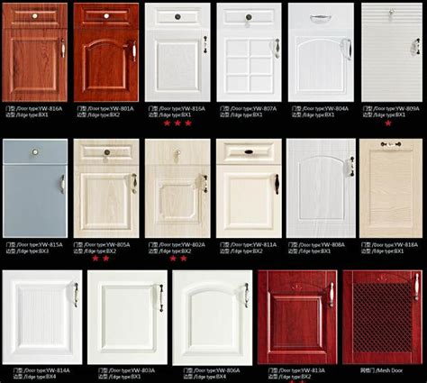 material for kitchen cabinet jisheng pvc series kitchen cabinet with thermofoil
