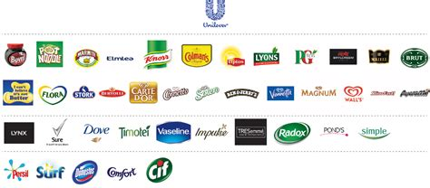 layout strategy of unilever partial architecture of unilever brands branding